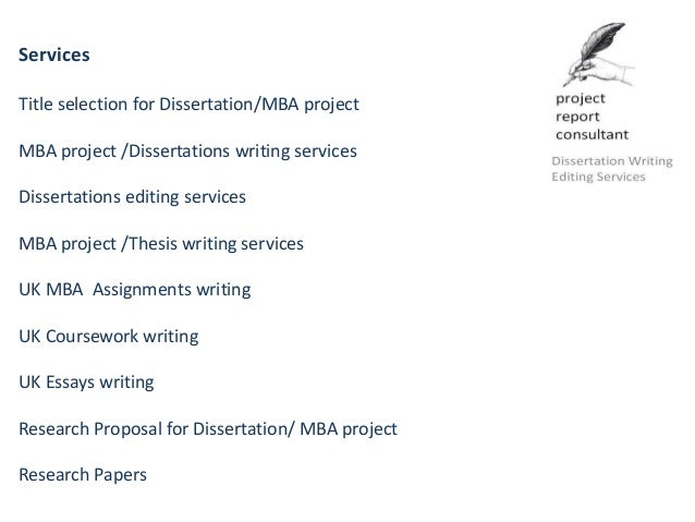 dissertation project expert report