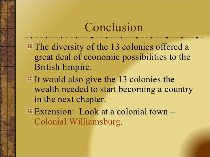 Culture in the colonies