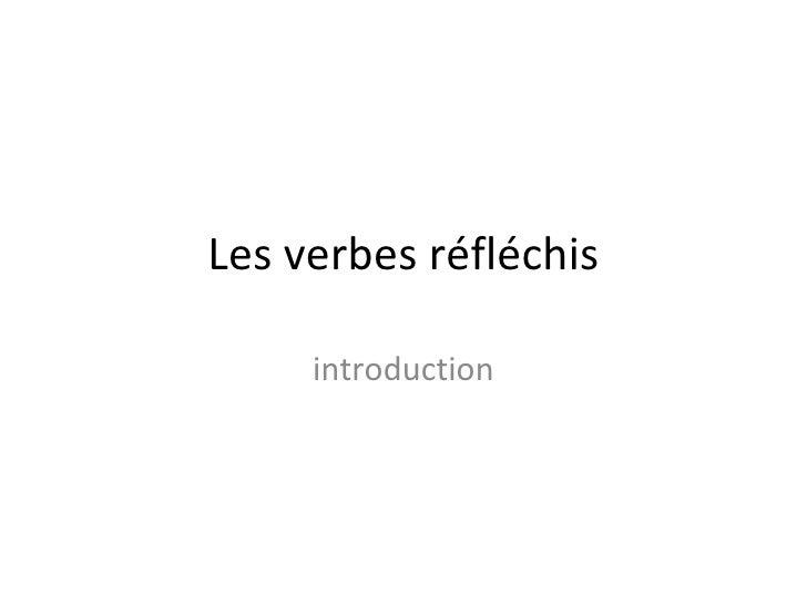 Les verbes réfléchis introduction