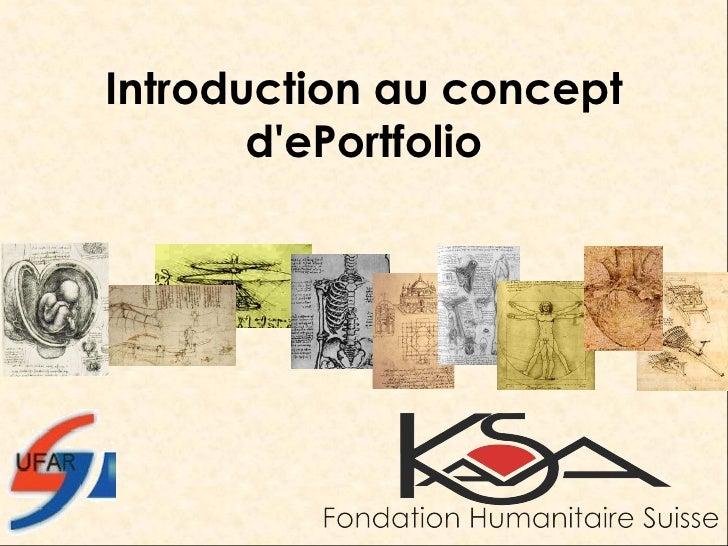 Introduction au concept d'ePortfolio