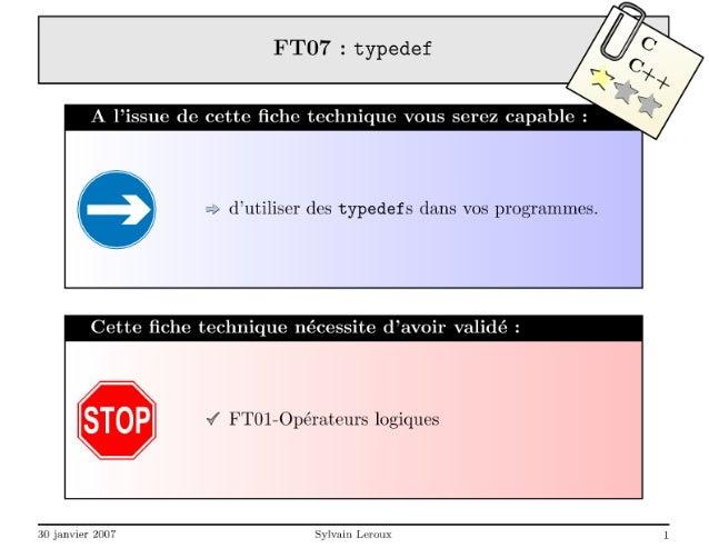Introduction aux typedef en C