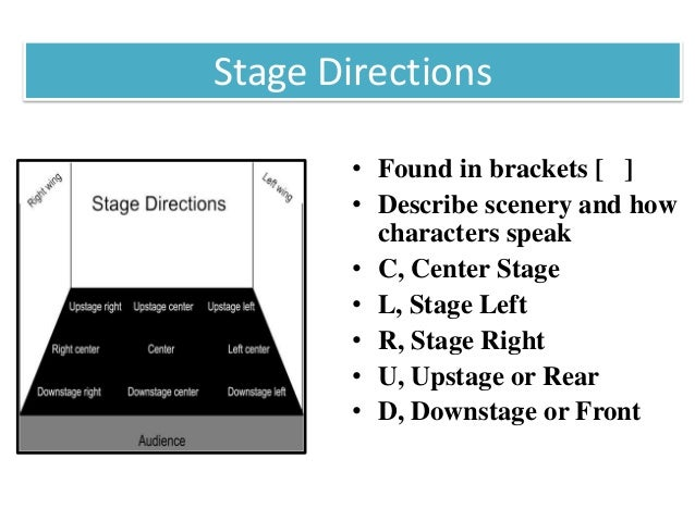 the job of stage directions in
