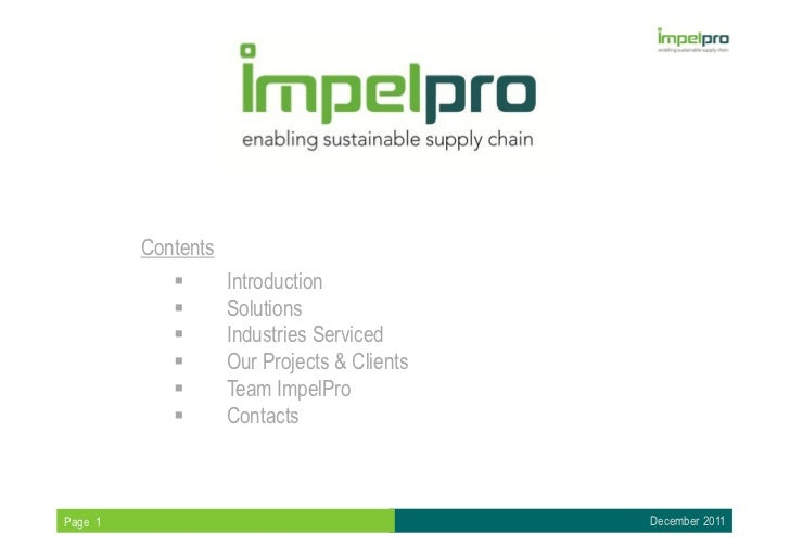 Contents                    Introduction                    Solutions                    Industries Serviced              ...