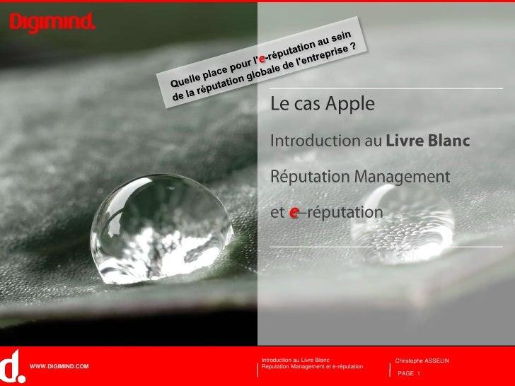Cas Apple: Reputation Management et E-Réputation