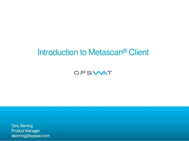 Introduction to Metascan Client
