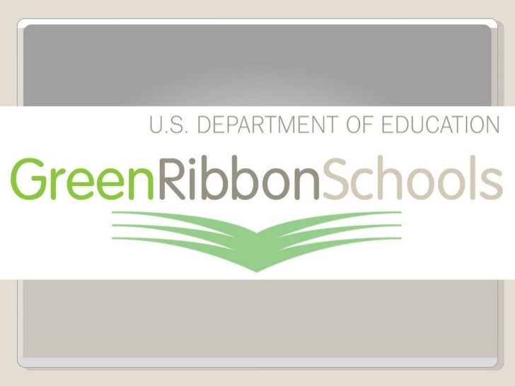 Green Ribbon Schools Introduction presentation