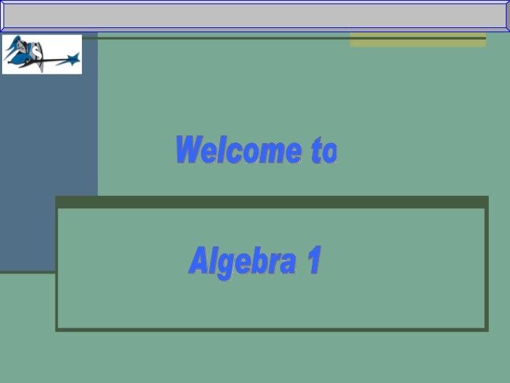 Introduction To Algebra 1