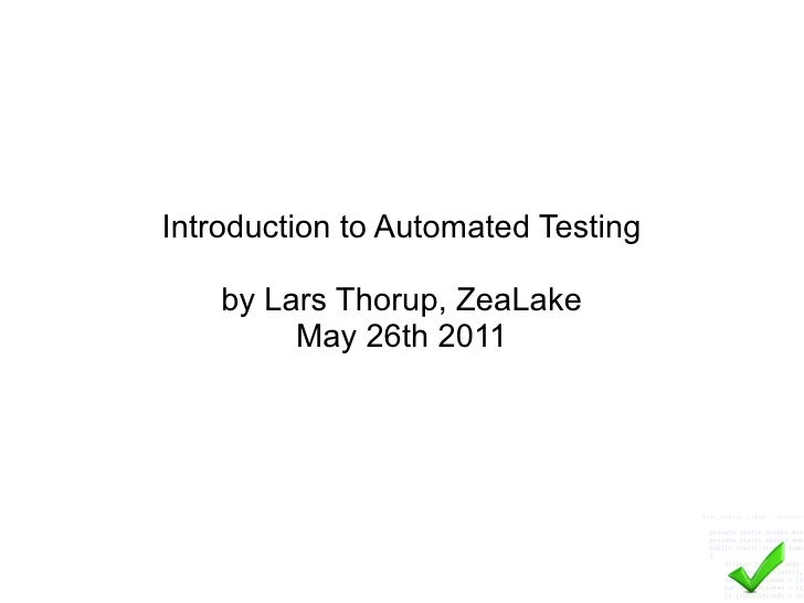 Introduction to-automated-testing