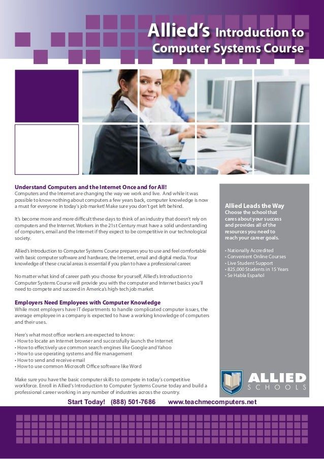 Introduction To Computer Systems Course Allied Schools