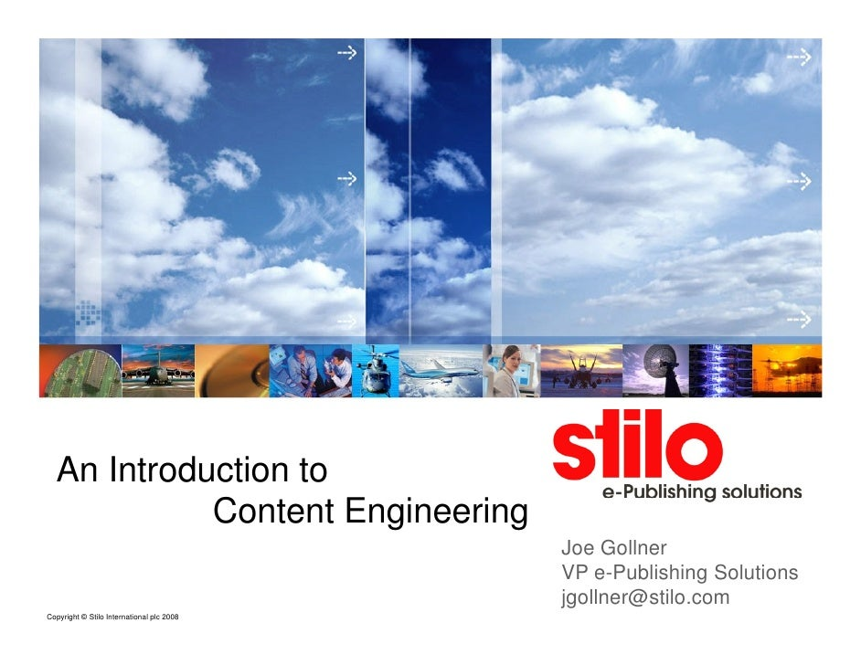 An Introduction to             Content Engineering                                            Joe Gollner                 ...