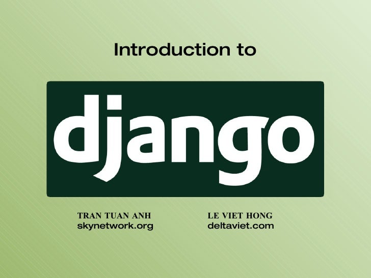 Introduction To Django