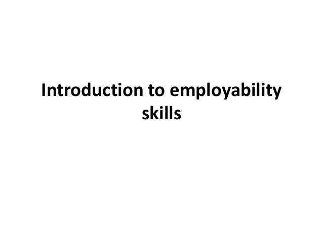Introduction to employability skills