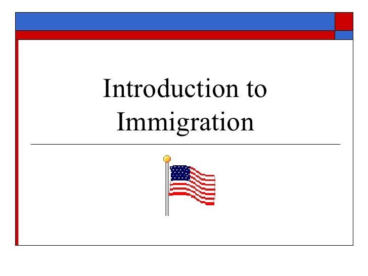 Migration essay introduction