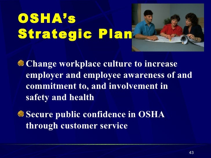 an introduction to the occupational safety and health osha The occupational safety and health division administers a broad scope of   publications order osha standards books, order free workplace labor law  posters.