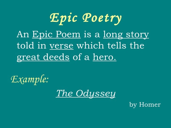 epic poem examples - photo #27