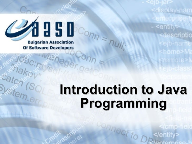 Introduction to-programming