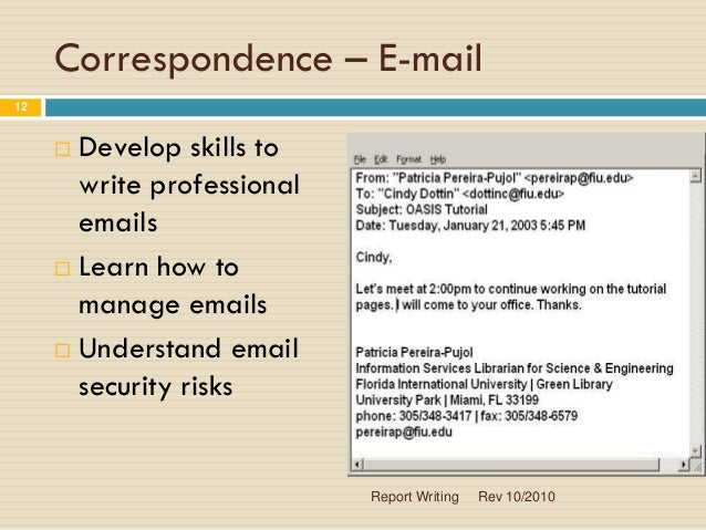 Ppt on Report Writing