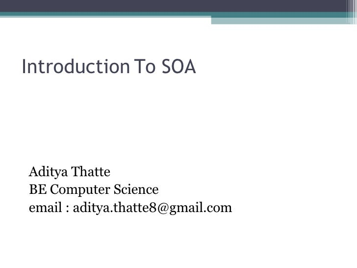 Introduction to SOA