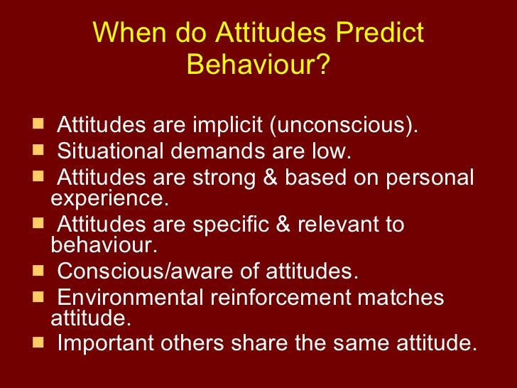 Do attitudes predict behaviour essay | write my english paper
