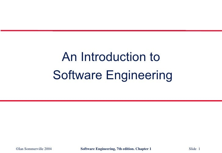 Introduction to Software Engineering SE1