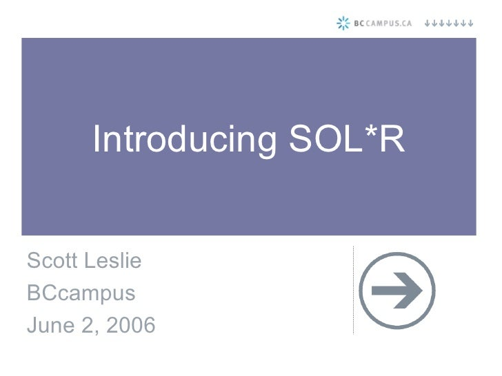 Introduction to SOL*R