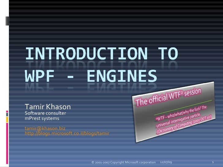 Introduction To Wpf   Engines