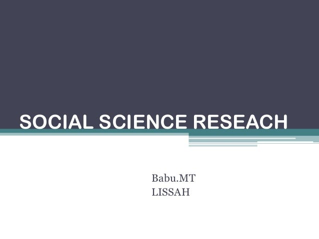social science research methodology 1