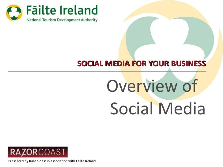 SOCIAL MEDIA FOR YOUR BUSINESS Overview of  Social Media