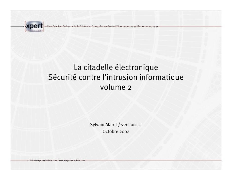 e-Xpert Solutions SA   29, route de Pré-Marais   CH 1233 Bernex-Genève   Tél +41 22 727 05 55   Fax +41 22 727 05 50      ...