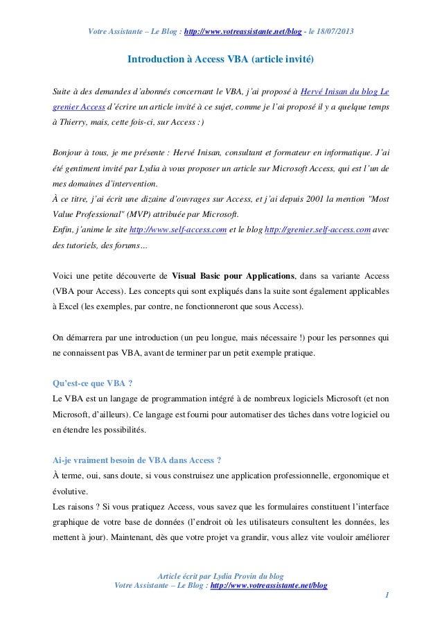 Votre Assistante – Le Blog : http://www.votreassistante.net/blog - le 18/07/2013 Article écrit par Lydia Provin du blog Vo...