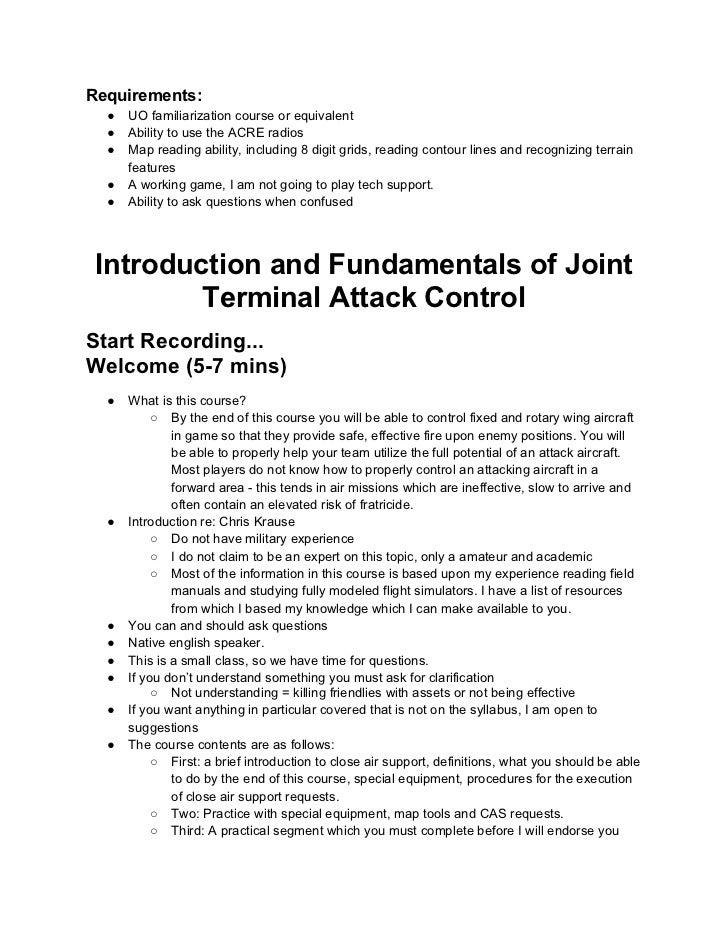 Introductionand fundamentalsofjointterminalattackcontrol