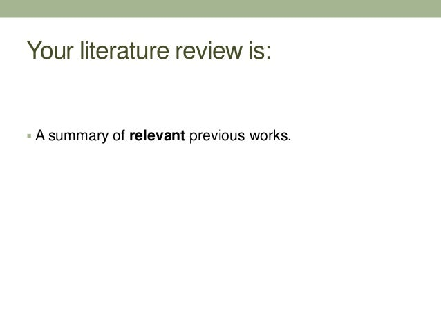 Pubmed Review Of Literature