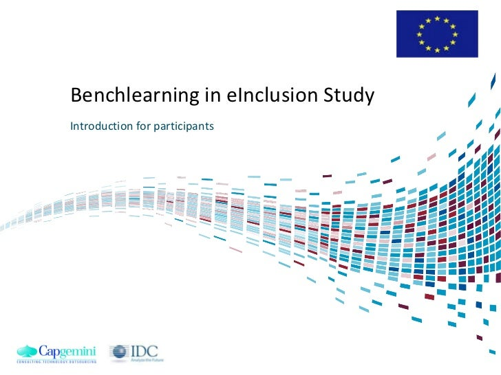 Benchlearning in eInclusion Study Introduction for participants
