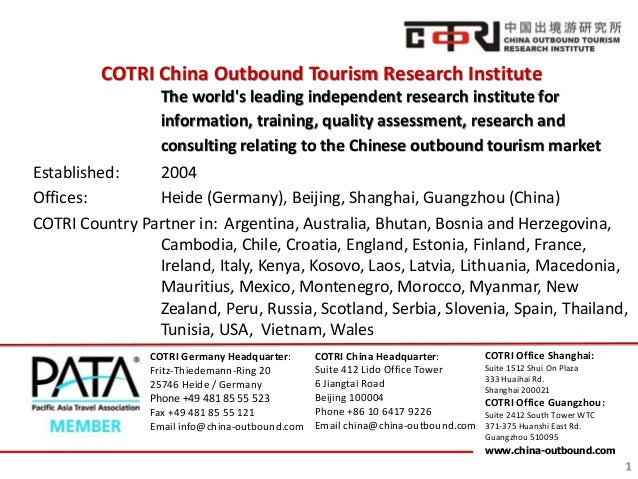 COTRI China Outbound Tourism Research Institute The world's leading independent research institute for information, traini...