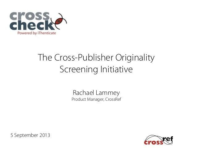 Introduction to CrossCheck Webinar