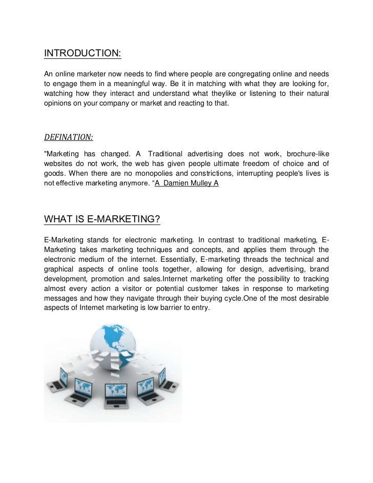 Introduction e marketing