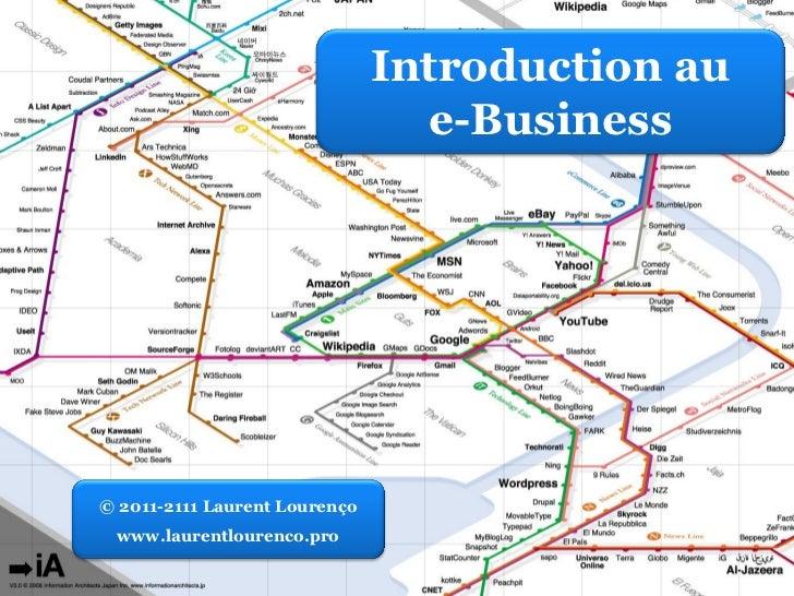 Introduction au                                 e-Business© 2011-2111 Laurent Lourenço www.laurentlourenco.pro