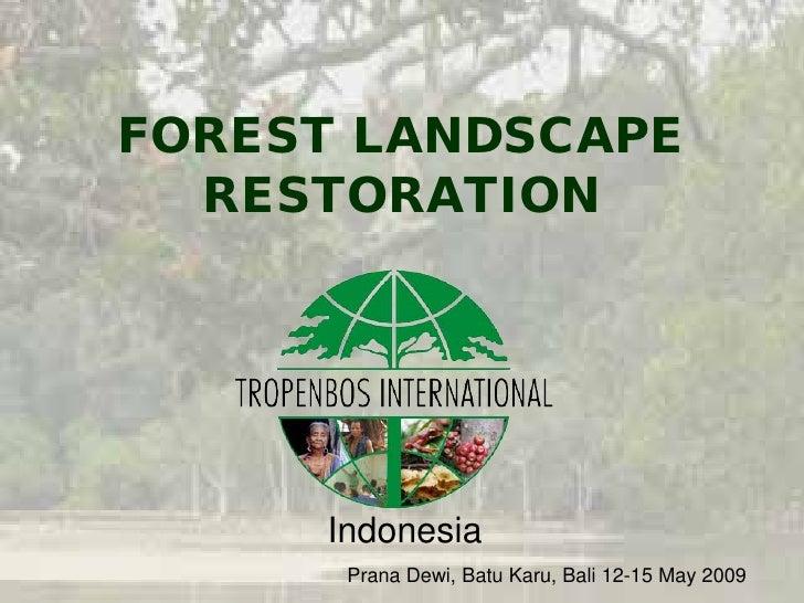 Introduction FLR Tropenbos International Indonesia