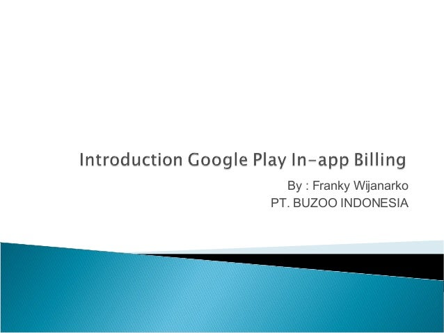 [Android] Google Play in app billing