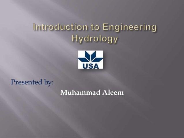 Presented by: Muhammad Aleem