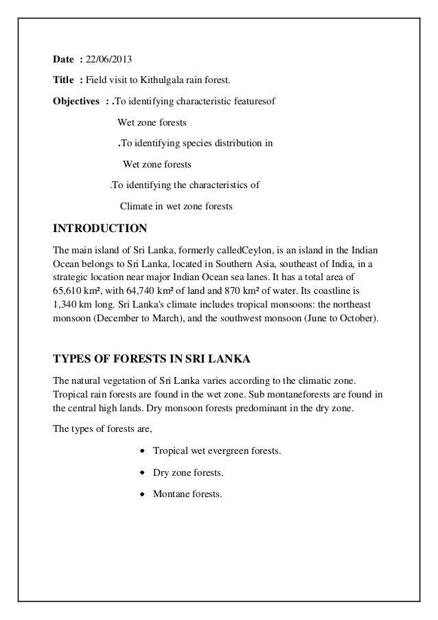Introduction kithugala