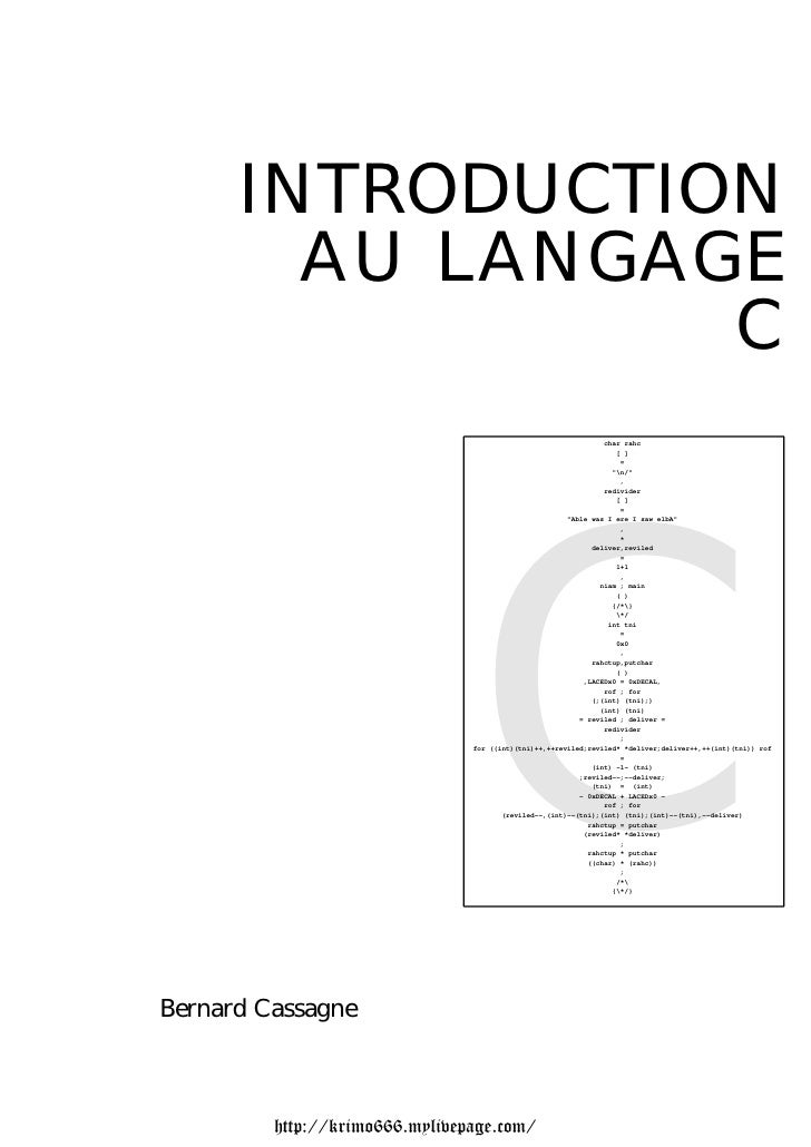 INTRODUCTION        AU LANGAGE                 C                                                                char rahc ...