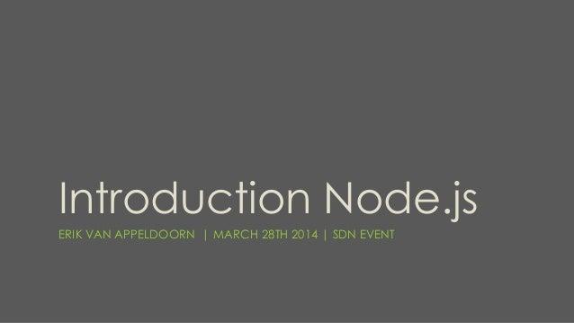 Introduction Node.js