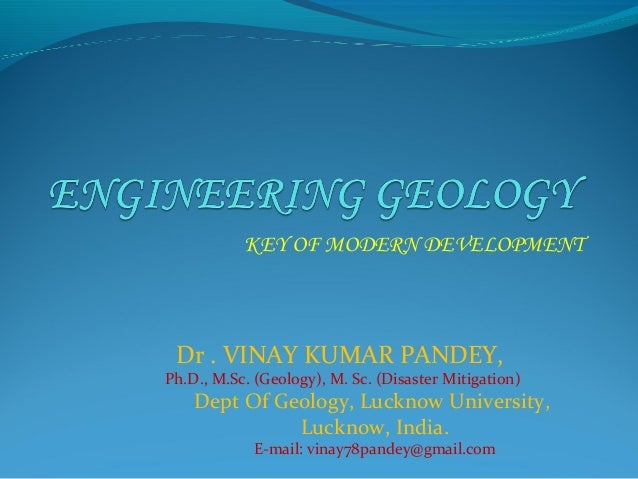 Introduction of engineering geology