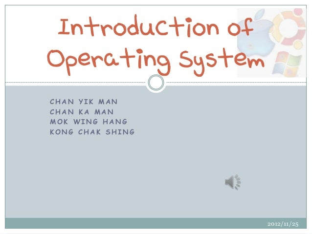 Introduction of operating system(latest)