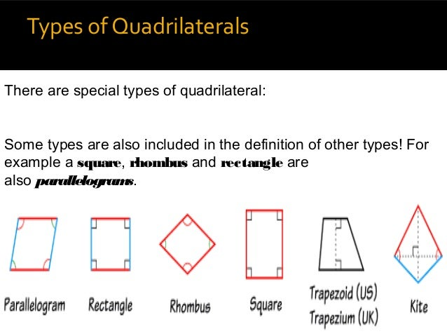 types of quadrilaterals there are special types of quadrilateral some | 638 x 479 jpeg 55kB