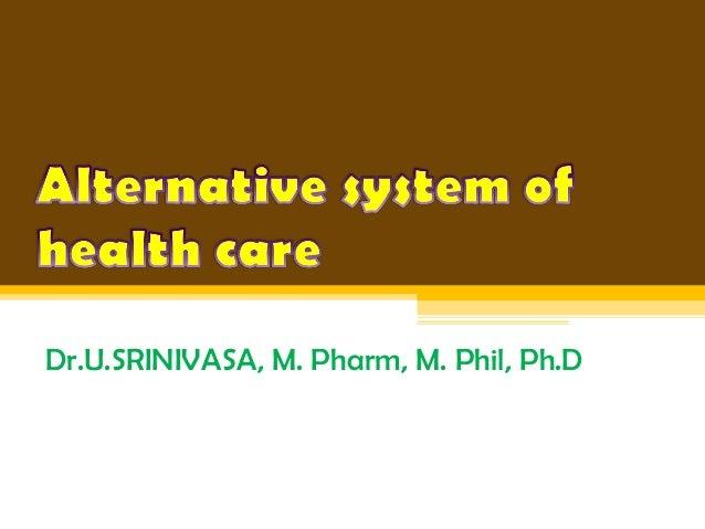 Dr.U.SRINIVASA, M. Pharm, M. Phil, Ph.D