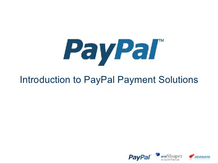 Introduction Pay Pal Online Payment Processing
