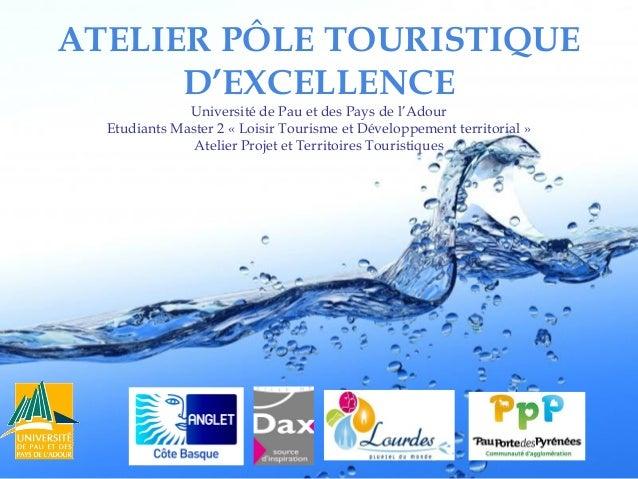 ATELIER PÔLE TOURISTIQUE D'EXCELLENCE Université de Pau et des Pays de l'Adour Etudiants Master 2 «Loisir Tourisme et Dév...