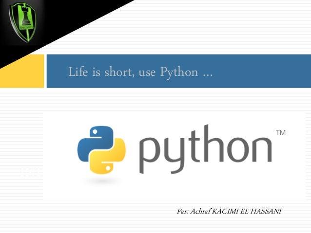 Introduction à Python - Achraf Kacimi El Hassani